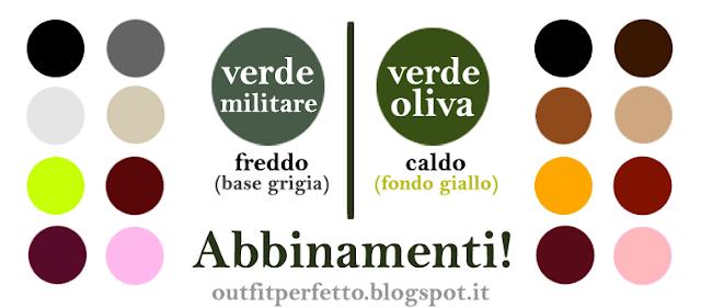614aebdfac4 Per prima cosa, il verde militare ed il verde oliva non sono esattamente  identici. Solitamente, infatti, il military green è una tonalità fredda di  verde, ...